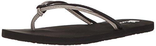 Volcom Sandales pour Femme W0811565-blc-7 - - Combinaison Noire, 36 EU