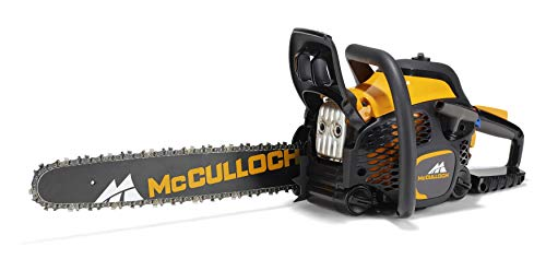 McCulloch 00096-73.003.01 CS50S Motosierra de gasolina con motor de 2100 W de potencia, longitud de espada de 45 cm, llave combinada integrada
