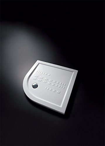 Piatto doccia semicircolare in porcellana mod. ito Misure: Cm 80x80