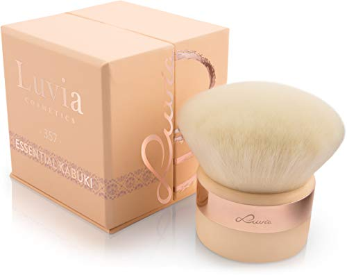 Luvia Kabuki Puder-Pinsel Gesichtspinsel Nude/Roségold - Großer Veganer Make-Up-Brush im...