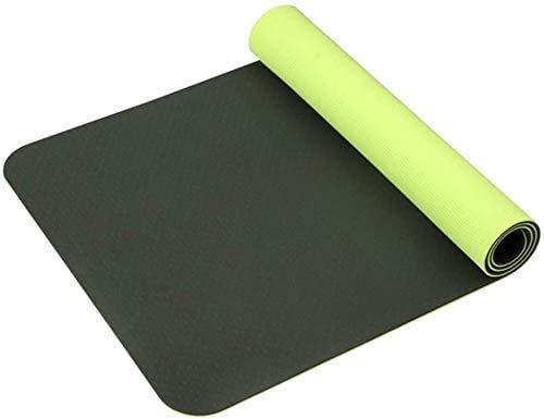 HAOSHUAI Großes Dickes rutschfeste Yogamatte 6 mm rutschfeste Kindertanzmatte mit Gurt (Farbe: A) Bessere Geschenk Bewegung, auch for Training/Fitness/Camping, etc