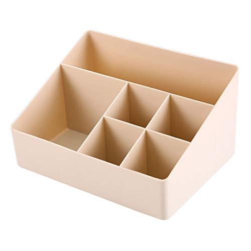 Boîte à Bijoux Sac Cosmétique Multi-Fonction Boîte de Rangement pour cosmétiques Boîte de Rangement en Plastique Étagère Compartiment Beige Accueil imperméable