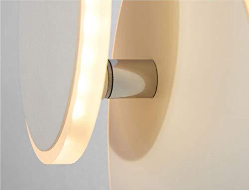 RTRY Lampade Creative Scale a Corridoio Moderna 360 Gradi di Rotazione della Lampada da Parete del Salone TV Gabinetto Corridoio Corridoio Lampada LED Camera Lampada da Comodino Tre Pezzi Nero