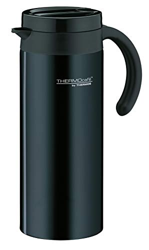 ThermoCafé by THERMOS 4055.233.120 Thermoskanne Lavender, Edelstahl Schwarz 1,2 l, schlankes Design, BPA-Free