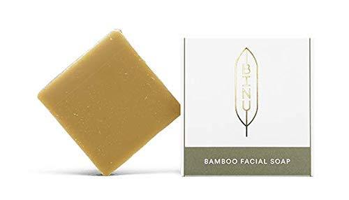BINU Bamboo Facial Soap | 100% natürlich | Milde Gesichtsreinigung mit Honig, Bambusblatt & Glycerin für normale Haut | handgemachte Gesichtsseife | mit natürlichem Glycerin