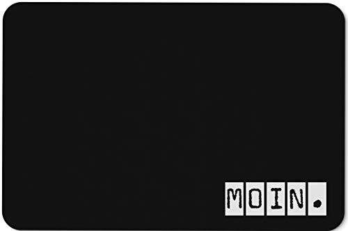 Tassenbrennerei Fußmatte mit Spruch Moin - Fußabtreter groß - Türmatte waschbar - Originelles Geschenk