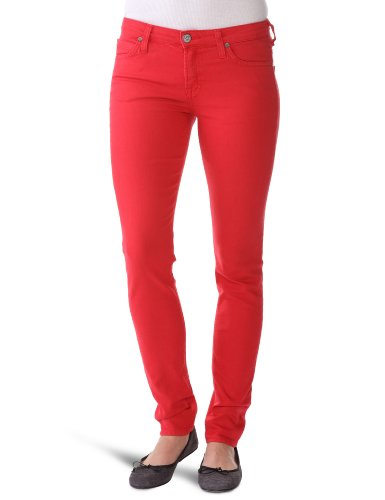 Lee Femme Scarlett Jeans, Rouge (Bright Red), 25W / 31L