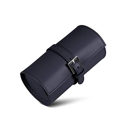 Lucrin - Porta orologi tondo - Blu - Pelle Liscia