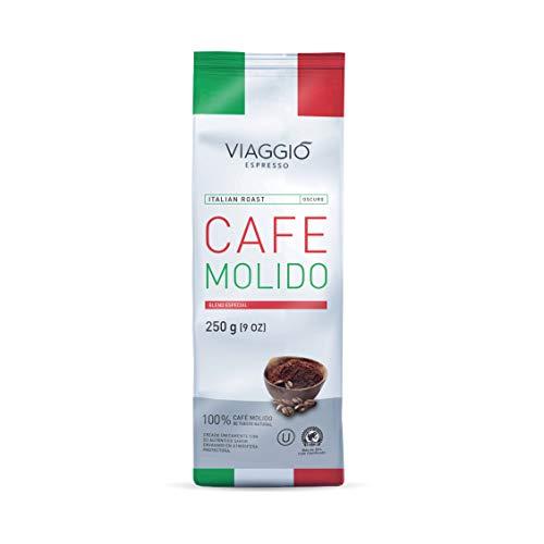 Viaggio Espresso Café molido blend especial Italian Roast (750 GR (Pack de 3))