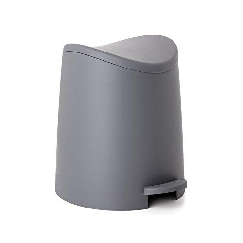 Tatay Papelera Baño con Pedal Estándar, 3L de Capacidad, de Polipropileno, Libre de BPA, Color Gris, Medidas 19 x 21.8 x 22.1 cm