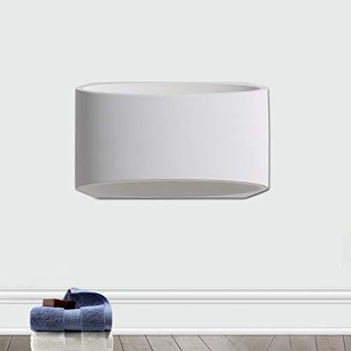 N/ A LED Creativo Aplique Moderno Minimalista Inicio Aplique de Pared Interior Blanco Salón Mesita de Noche Aplique LED