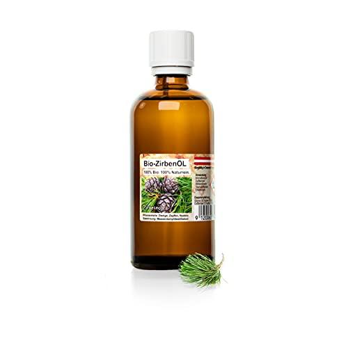 Zirbenöl - 100ml - Bio zertifiziert | ätherisches Zirbelkieferöl, bio | für Diffuser, als Duftöl, Aroma | [Zirben]