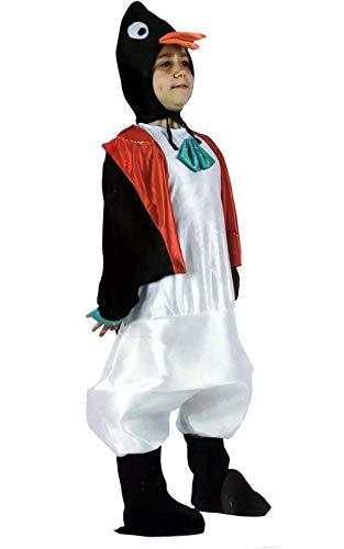 Cisne 2013, S.L. Disfraz de 3 Piezas Pinguino para Carnaval Infantil.Talla 3/4 años niña.Incluye 1 Mono, 1Gorro y 1 Patas. Cosplay niña niño Carnaval.