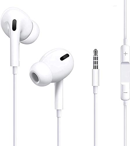 In-Ear Kopfhörer, mit 3,5 mm Kopfhörerstecker für 6 / 6S / 6P / 6S P/Samsung und Android HiFi-Audio Stereo Kopfhörer Ohrhörer- Weiß
