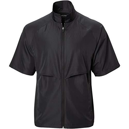 Sun Mountain Mens Headwind Short Sleeve Full Zip Golf Jacket Black/Black XL