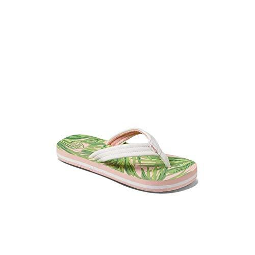Reef Girls Kinder-Sandalen Zehentrenner Sandels »AHI« Tropical Palms Gr.33/34