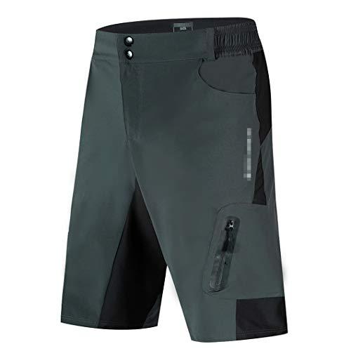 Radhose Herren MTB Fahrrad Unterhose Shorts Downhill Wasserdicht Loose Fit Quick Dry BL136-H M
