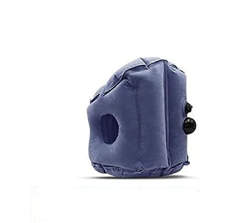 Almohada portátil de viaje inflable Cuello de cuello de la cabeza Almohadas para el diseño ergonómico de avión Almohada de vuelo para la almohada de la tela de la aerolínea de la oficina del autobús d