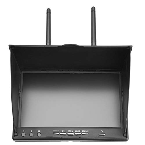Germerse FPV Monitor, 5.8GHz LCD Screen Receiver Monitor 40Channels RC Receiver Monitor, for Monitoring FPV Drone Quadcopter