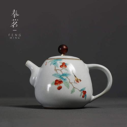 Purple Clay Teapottea Set, Teapot Ru Porcelain Single Pot Ceramic Household
