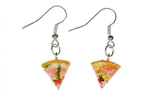 Aretespizza pizza pendientes piec jamon cena detalle- hecho a mano joyas de...