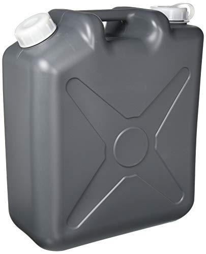 瑞穂化成 扁平缶 ノズル無 20L グレー 0207GY 両口 カラーポリタンク