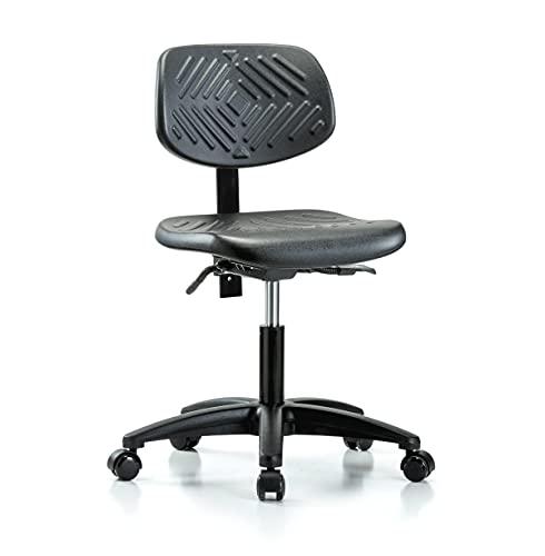 Perch Ergonomic Industrial Chair for Hardwood or Tile Floors, Desk Height
