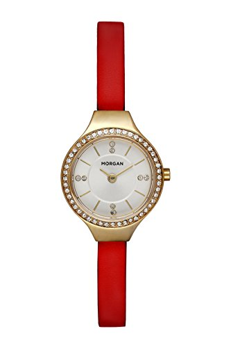 MORGAN Damen Datum Norm Quarz Uhr mit PU Armband MG 007S-1BL