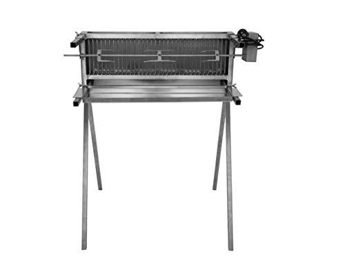 Schneider Grillgeräte 66 für Hähnchen, Rollbraten oder als Spießgrill 16b silber/edelstahl