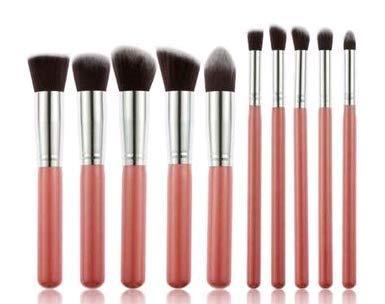 Rodman 10 Pièces Pinceaux de Maquillage Ensemble Maquillage Cosmétique Pour Visage Maquillage Outils Fard à Paupières Fondation Blush Mélange Beauté Pinceau de Maquillage