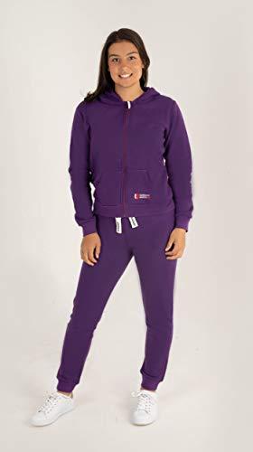 Gennadi Hoppe Kinder Sweat Jogginganzug Sportanzug Trainingsanzug, lila, 98/104