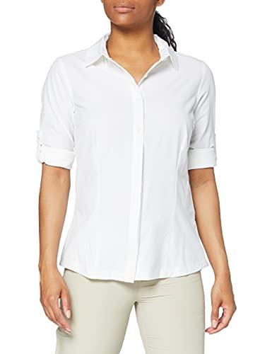 Columbia Saturday Trail Camisa de Manga Larga elasticada, Mujer, Blanco (White), M