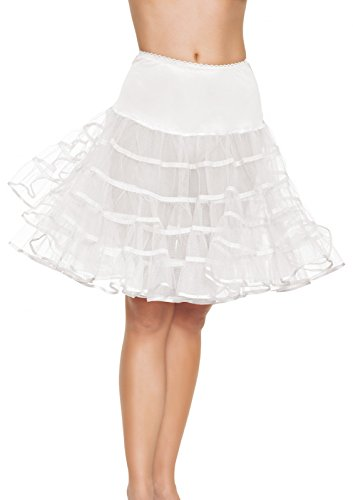 Leg Avenue Jupon Long Gonflant Blanc Taille Unique