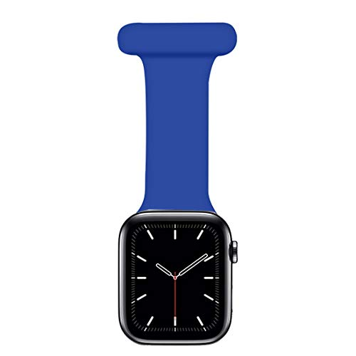 Coholl Correa Compatible con Apple Watch Correa 38/40mm,42/44mm diseño de Control infecciones Fob Silicona para Enfermeras parteras médicos paramédicos iWatch Series SE/6/5/4/3/2/1,Blue