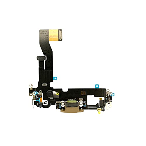 Best Shopper - Replacement Charging Charge Port Flex Cable with Microphone for Apple iPhone 12 Pro - Gold