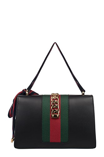Fashion Shopping Gucci Women's 421882CVLEG8638 Black Leather Handbag