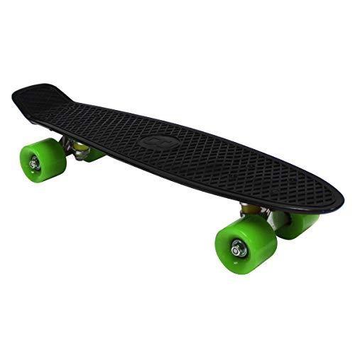 Charles Bentley Kinder Retro Mini Skateboard in Schwarz Polypropylen - 22