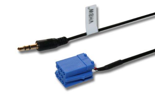 vhbw AUX Adapter Verbindungskabel (Mini-Iso) für Diverse Autoradios z.B. Becker, Blaupunkt, Philips, VDO Dayton, sowie von Audi, Seat, Skoda, VW etc.