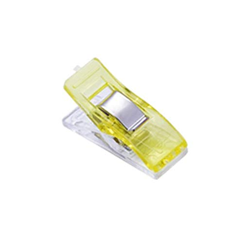 De múltiples fines 20/50 PCS Clips de costura Clips de plástico multicolor Limpiadas de tela Patchwork Craft Clips Clips de ropa Clips de acolchado de titulares para ganchillo ganchillo clips de segur