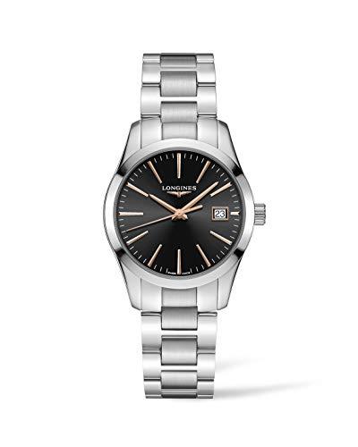 Longines orologio Conquest Classic 34mm nero acciaio quarzo L2.386.4.52.6