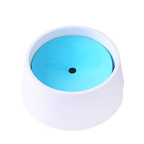 WLDOCA Schwimmende Wasserschale für Haustiere, Nicht verschütteter, langsamer Futterautomat mit rutschfestem Boden, spritzwasserfreie Wasserschale für Hunde, Katzen und Welpen,Blau