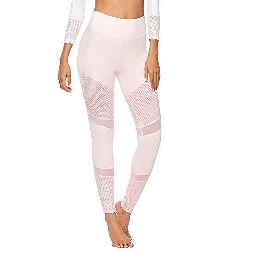 AWSAYS Pantalon De Yoga Taille Haute pour Femme Couture De Maille Mince Hanche Leggings De Sport
