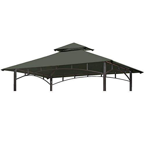 Eurmax 5FT x 8FT Double Tiered Replacement Canopy Grill Gazebo BBQ Cover...