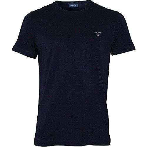 GANT Herren SOLID T-Shirt, Blau (Evening Blue 433), XXX-Large (Herstellergröße: XXXL)