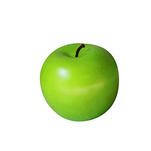 LUOEM Äpfel Gefälschte Obst Künstliche Äpfel Foto Requisiten Display Prop Schaum Haus Haus Küche Schrank Schaufenster Dekoration (grün)
