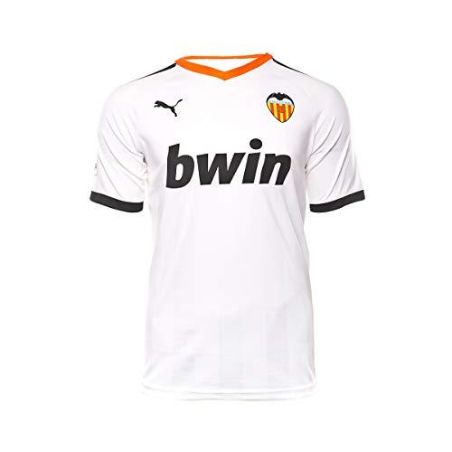 Puma Valencia CF Pro Primera Equipación 2019-2020, Camiseta, Puma White-Puma Black-Vibrant Orange, Talla S