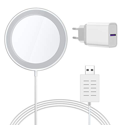 Kompatibel Magnetische ladegerät Phone Mit USB Ladegerät 18W QC 3.0,AICase Magnetisches Kabelloses Wireless Charger für Phone 12,12 Pro 12 Mini 11,11 Pro,11 Pro Max, AirPods, Galaxy S20 S10-1m