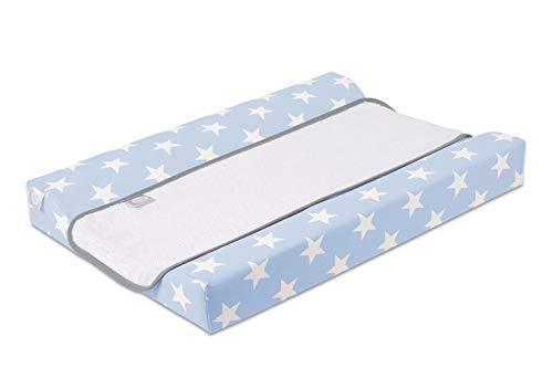 Funny Baby Stars Azul - Colchon cambiador comoda, unisex, celeste