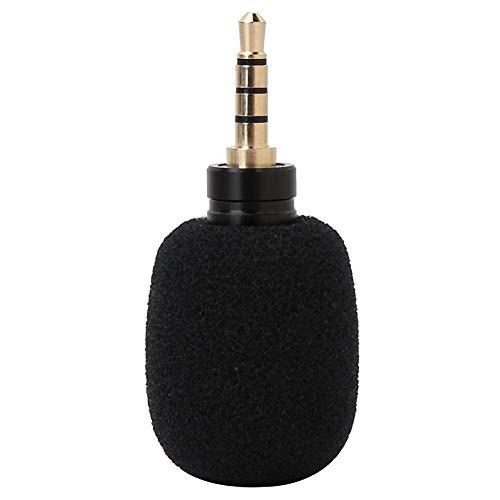 Oumij Micrófono Mini EY-630A Micrófono portátil de 3,5 mm Jack de Condensador Micrófono de grabación para teléfono móvil Inteligente(Quadrupole Mono)