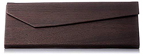 ビカーサ アイグラス ケース ウッド メガネ サングラスケース 折りたたみ b195-008-001-1-1 ダークブラウン